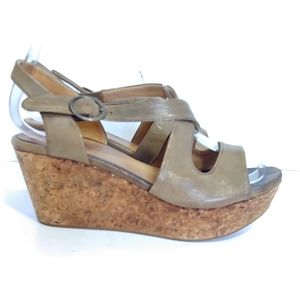 Coclico leather and cork platform sandals